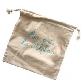 sac coton les Alphas pour ranger ses figurines