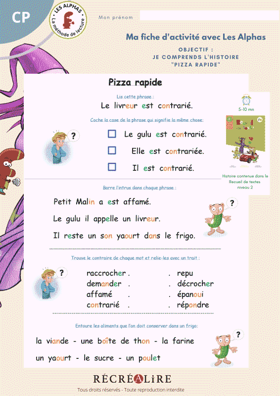 Methode d'apprentissage les Alphas : apprentissage de la lecture pour enfant