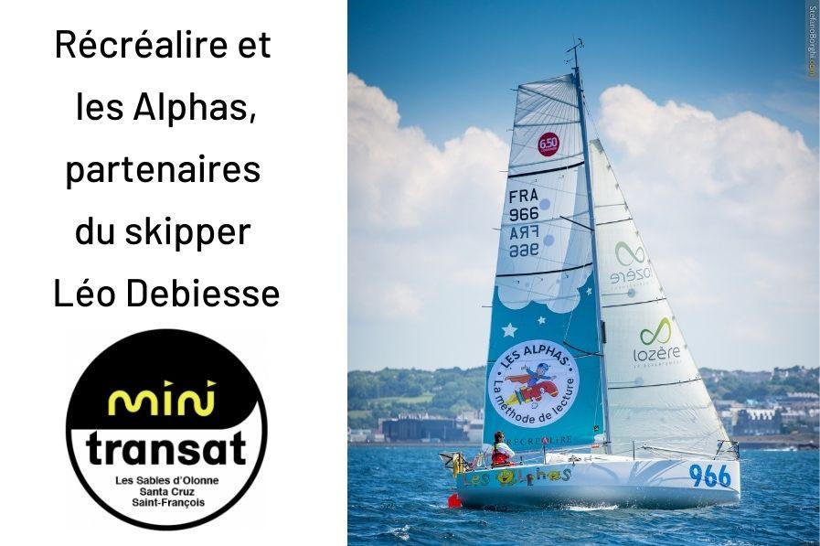 Les Alphas partent en bateau avec le skipper Léo Debiesse