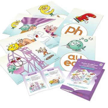 """[MARDI PÉDAGOGIE]   Vous êtes enseignant ou orthophoniste et souhaitez travailler sur les sons complexes avec vos élèves ou les enfants que vous suivez ? Découvrez la nouvelle édition de nos posters de référence !   Ces posters, au nombre de 16 et au format A3, permettent d'être accrochés en classe afin d'apprendre les sons complexes (tels que """"ou"""", """"an"""", """"in"""", """"on"""", """"eu"""", """"oi"""") de manière visuelle mais aussi auditive grâce à des histoires de référence.   Avec les posters, un livret d'histoires de référence propose des histoires à raconter aux enfants pour appréhender facilement les sons complexes. Par exemple, pour le son """"ou"""" : monsieur oetmademoiselle ufont les fous dans une grande roue. Ils imitent le loup en criant : """"Ouh ! Ouh !""""   En parallèle de cette histoire, à travers laquelle les enfants vont entendre le son """"ou"""" plusieurs fois, un poster présentant monsieur o et mademoiselle u dans une grande roue avec un loup permettra aux enfants d'assimiler le son correspondant aux deux Alphas mentionnés.   Certains posters et histoires permettent de faire découvrir des sons représentés par 2 ou 3 lettres aux enfants grâce aux Alphas, tandis que d'autres leur donnent à voir les différentes manières d'orthographier un même son (ex : /o/ = """"o"""" / """"au"""" / """"eau"""").   Retrouvez-les sur notre site www.editionsrecrealire.com !   *Cet apprentissage étant complexe, nous conseillons aux familles de laisser le soin aux enseignants de travailler les sons complexes en classe avant de s'entraîner à la maison.   #lesalphasofficiel #lesalphas #methode #lecture #recrealire #editionsrecrealire #edition #pedagogie #apprendre #lire #enfant #poster #son #histoire #orthographe"""