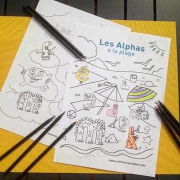 """[JEUDI COULISSES]  Bientôt la fin des vacances... Notre équipe en profite pour réaliser quelques activités divertissantes en compagnie des Alphas !  Et si les enfants donnaient de belles couleurs aux Alphas ? RDV sur notre site, onglet LES ALPHAS > LES RESSOURCES > COLORIAGES, pour télécharger de jolis dessins à colorier !  Pour réaliser des activités ludiques, vous pouvez également découvrir le cahier """"Je colorie et je m'amuse avec les Alphas"""" sur notre site www.editionsrecrealire.com (photos 2 et 3).  #lesalphasofficiel #lesalphas #methode #lecture #recrealire #edition #pedagogie #apprentissage #enfants #lire #cahier #coloriage #colorier #dessin #couleur #crayon #artiste"""