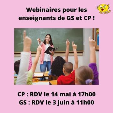 [MARDI PÉDAGOGIE]  Enseignants de GS et CP, nouvelles dates de webinaires si vous souhaitez nous rejoindre pour échanger sur la méthode de lecture Les Alphas et la manière de l'appliquer auprès de vos élèves !  RDV pour un webinaire d'environ une heure destiné aux enseignants de CP le 14 mai à 17h00, et le 3 juin à 11h00 pour les enseignants de GS (heures françaises). Si vous êtes intéressé, n'hésitez pas à nous envoyer un message afin de pouvoir y participer ! *Ces webinaires sont destinés aux enseignants dans un cadre professionnel. Si vous êtes parent et que vous souhaitez mieux connaître notre méthode, nous proposons un Facebook Live vendredi 15 mai à 15h00 et vous invitons à consulter notre publication précédente pour y retrouver toutes les informations.  #lesalphasofficiel #lesalphas #methode #lecture #recrealire #edition #pedagogie #apprentissage #webinaire #accompagnement #enseignants #GS #CP #echange #apprendre